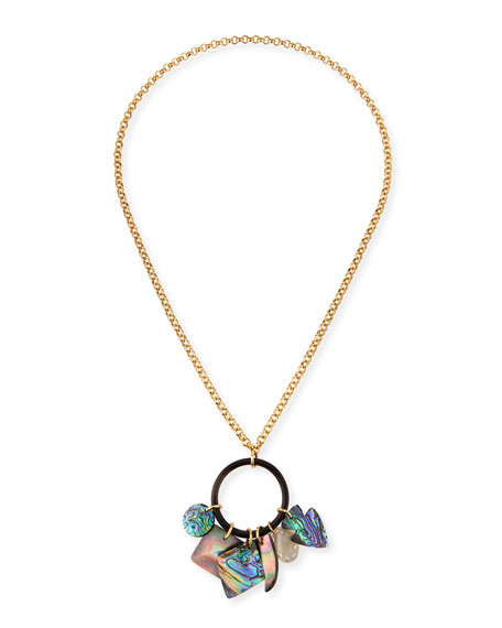 Nest Mother-of-Pearl Chain Charm Necklace GMRGW2
