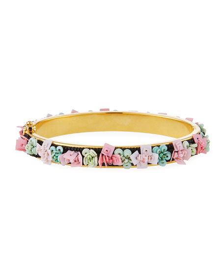 Mignonne Gavigan Petite Julia Floral Beaded Bangle Bracelet bUbL3PUU
