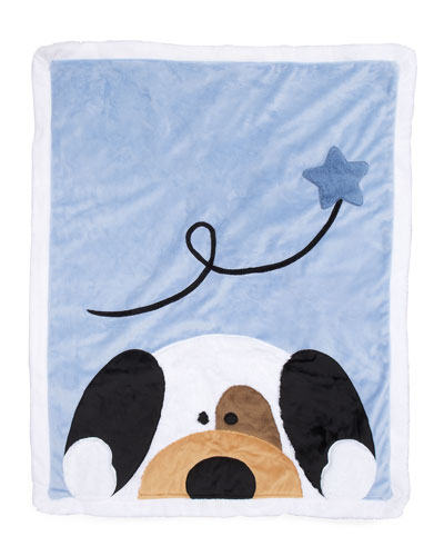 Peek-a-Boo Puppy Blanket, Personalized