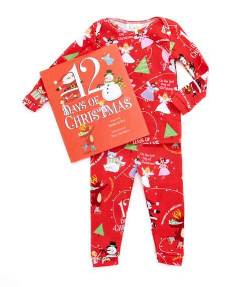 books to bed girl 12 days of christmas pajamas and book set 12 18 months - Girl Christmas Pajamas