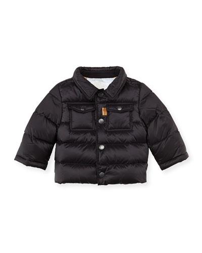 Nylon Puffer Coat, Black, 3M-2Y