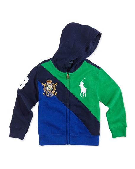 Big Pony Colorblock Full-Zip Hoodie, Navy Multi, ...