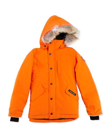 51d36f29c1b3 Canada Goose Youth Logan Parka with Fur Trim