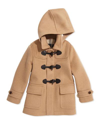 Toggle Coat with Hood, New Camel, 4Y-14Y