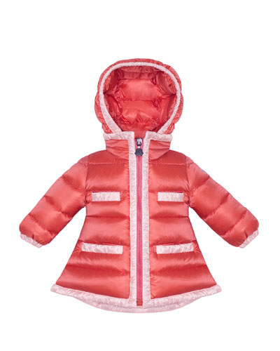 Quilted Bicolor Pelagie Jacket Coral, 3M-3T