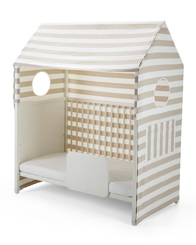 Home™ Toddler Bed Tent, Beige/White