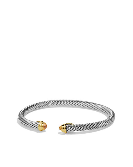 Cable Kids November Birthstone Small Bracelet With Citrine And Gold