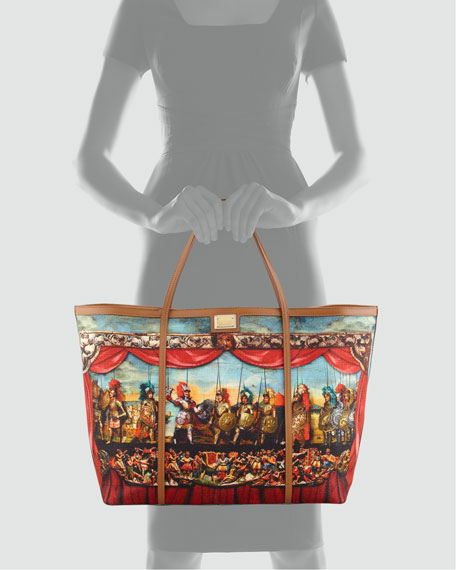 Miss Escape Printed Canvas Tote Bag