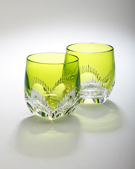 "Two ""Mixology"" Neon Lime Tumblers"