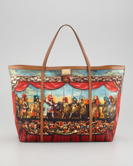 a7abcd83 Dolce & Gabbana Miss Escape Printed Canvas Tote Bag