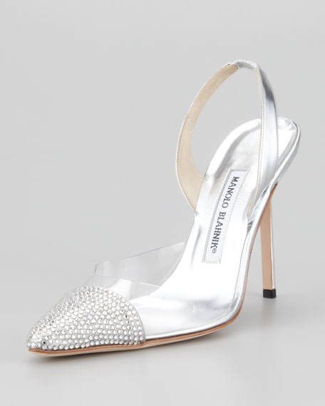 sale nicekicks discount clearance store Manolo Blahnik Carolyne Metallic Pumps popular for sale buy cheap free shipping fM06mOy1G