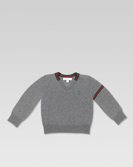 Extra-Fine Merino V-Neck Sweater