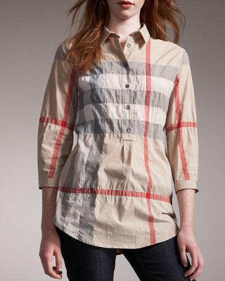 59dc88122cc Burberry Brit Check Tunic Shirt