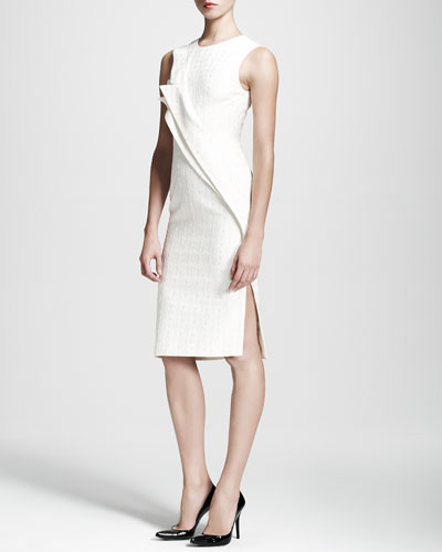 Double-Fold Jacquard Sheath Dress