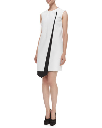 Layer Asymmetric Bicolor Dress