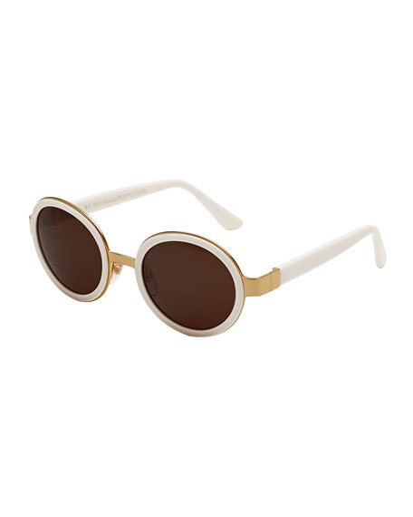 0b932b33fae776 Super by Retrosuperfuture Santa Tintarella Round Sunglasses