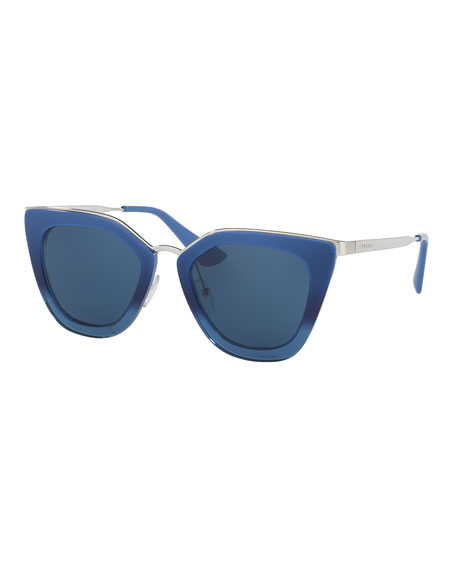 Metal Trim Cat Eye Sunglasses sSzzbul45B