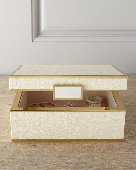 AERIN Small FauxShagreen Jewelry Box