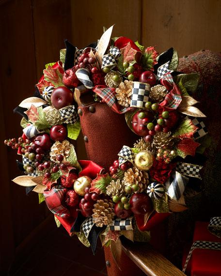 Mackenzie Childs Christmas.Small Gala Christmas Wreath