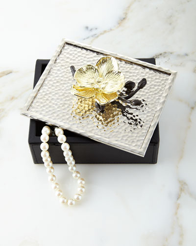 Gold Orchid Jewelry Box