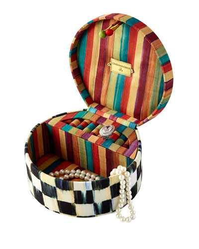 Courtly Check Round Jewelry Box