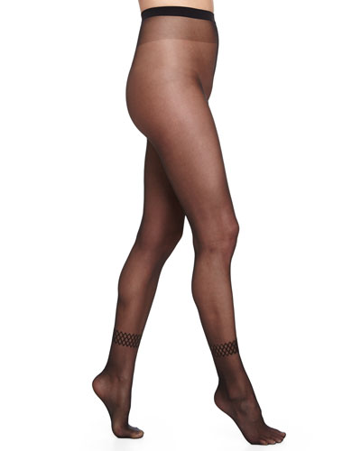 Emilia Sheer Tights, Black
