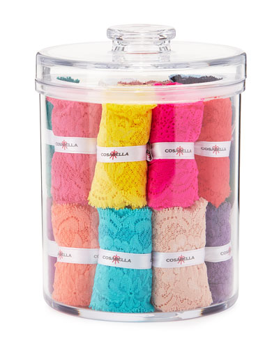 Never Say Never Cutie 25-Piece Thong Cookie Jar Set, Multi