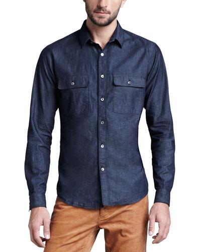 Soft-Wash Chambray Shirt