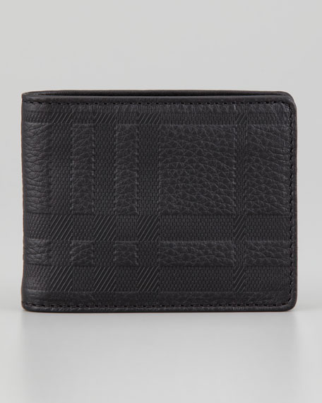 embossed leather folding wallet - Black Burberry nBVQc