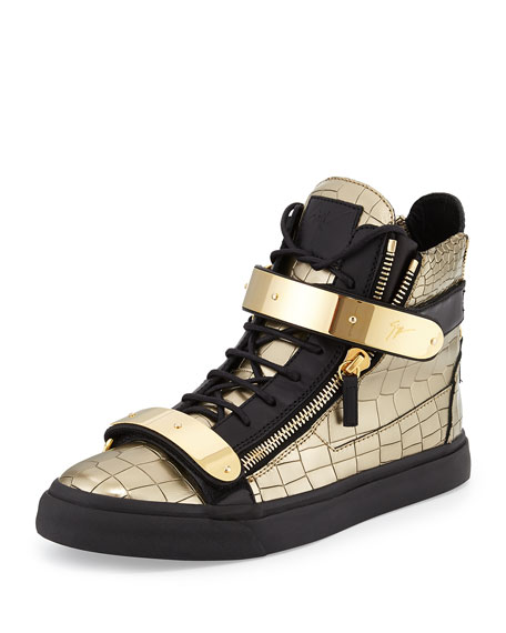 8d6a04dca485 Giuseppe Zanotti Men s Faux-Croc High-Top Sneaker