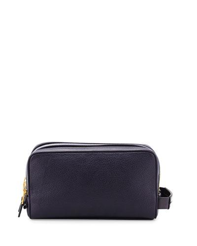 Double-Zip Toiletry Bag, Purple