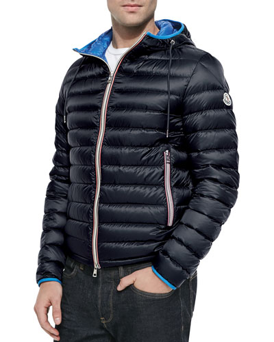 Athenes Hooded Puffer Jacket, Navy