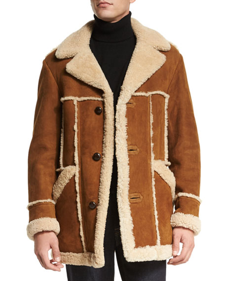 TOM FORD Sable Shearling Jacket with Raw Edge, Iconic Shawl Collar ...