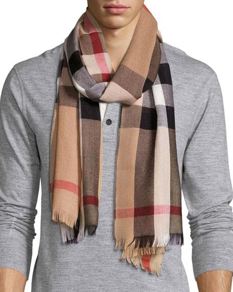 Tartan-checked wool blend scarf Burberry RNhPDCcgjj