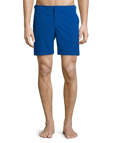 Bulldog Solid Swim Trunks, Mazanine