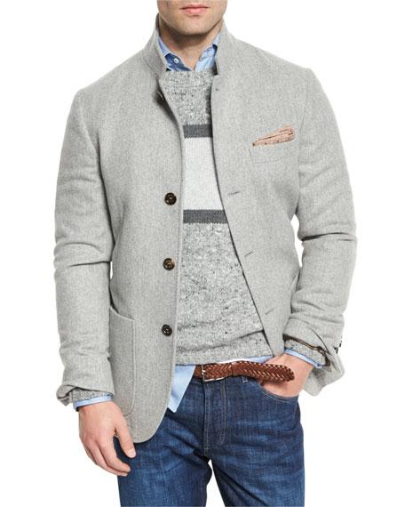 online retailer bfe54 7cb49 Cashmere Hybrid Sport Jacket Gray