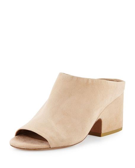 Vince Petra Suede Block-Heel Mule Sandal(Women's) -Black Kid Suede Official Site For Sale Largest Supplier Cheap Online Outlet Online Shop Clearance Footlocker Cheap Fake EuWDRJg
