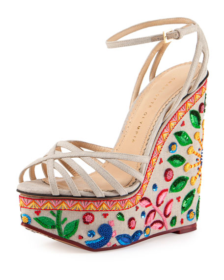 Charlotte Olympia Meredith Celebration Wedges extremely cheap price 6NG1Stv1DR