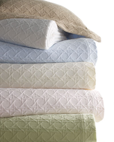 Marcus Collection Cane Matelasse Coverlets & Shams