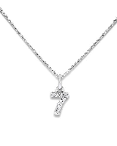 Diamond Number Necklaces