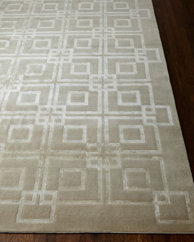 Ivory Squares Rug