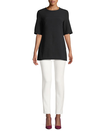 Short-Sleeve Tunic & Cropped Catherine Pants