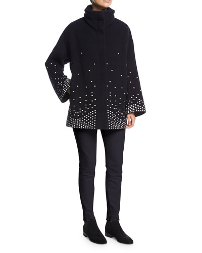 Ralph Embroidered Cashmere Caban Coat and Matching Items