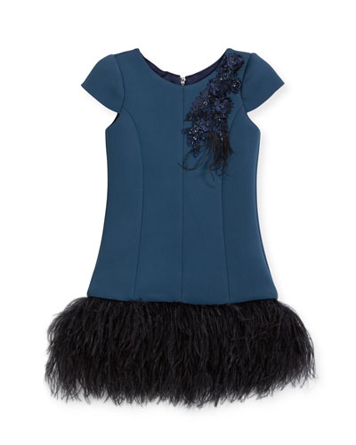 Feather Flounce Drop-Waist Dress, Size 4-6X and Matching Items