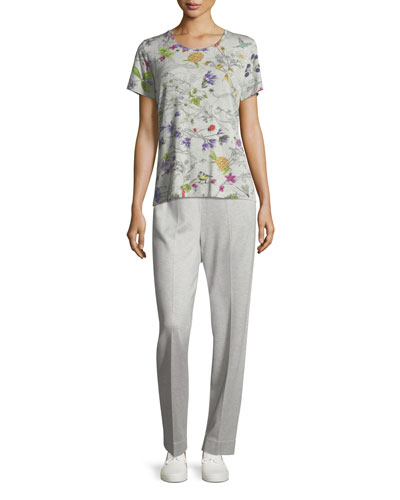 Tsisa Melange Side-Zip Pants and Matching Items