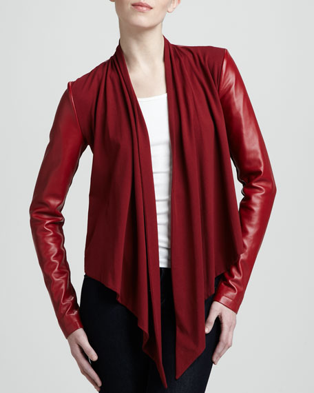top leather drapes lillian list style bb dakota drapey best l drape jackets draped front rank jacket