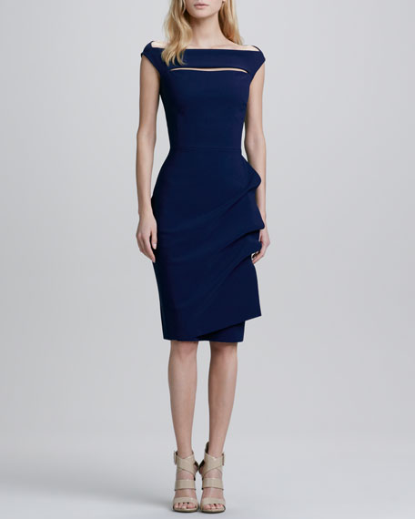 d385c0fc9f9a La Petite Robe di Chiara Boni Melania Cap-Sleeve Draped Cocktail Dress