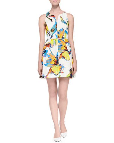 Pop Art Flora Printed Racerback Dress