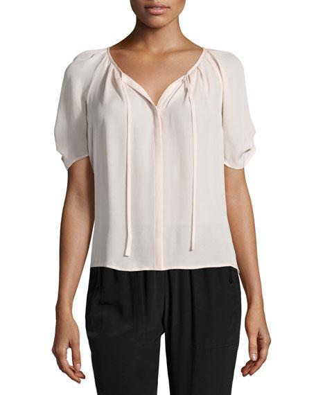 ccb4be4118728 Joie Berkeley Pleated Silk Top