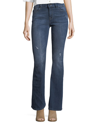 Bridget Instasculpt Boot-Cut Jeans w/ Distressing